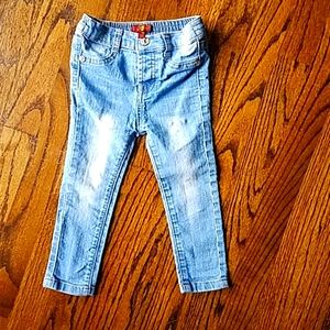 7 For All Mankind girl 2T distressed skinny jeans